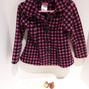 Penny M houndstooth fleece jacket